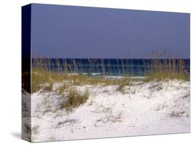 Beach on Gulf of Mexico, Al-Sherwood Hoffman-Stretched Canvas Print