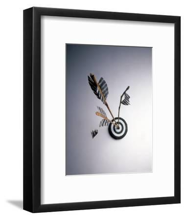 Arrows Hitting Target-Howard Sokol-Framed Photographic Print