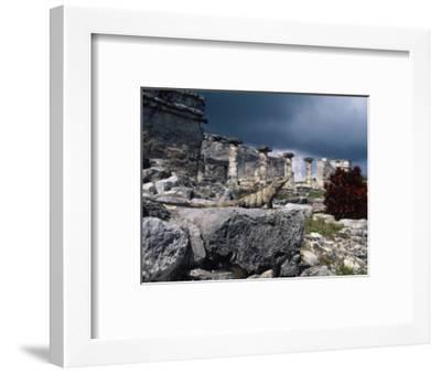 Mayan Ruins, Tulum, Mexico-Angelo Cavalli-Framed Photographic Print