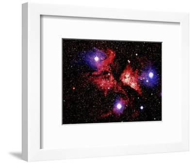 Nebula and Stars-Terry Why-Framed Photographic Print