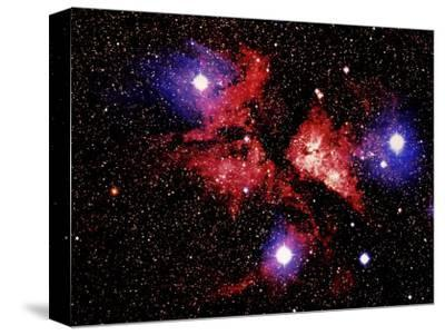 Nebula and Stars-Terry Why-Stretched Canvas Print