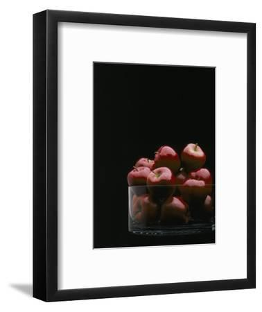 Red Apples in Glass Bowl-Howard Sokol-Framed Photographic Print