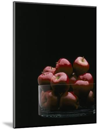 Red Apples in Glass Bowl-Howard Sokol-Mounted Photographic Print