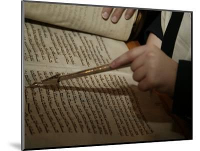 Boy Reading from Torah at Bar Mitzvah-Bill Keefrey-Mounted Photographic Print