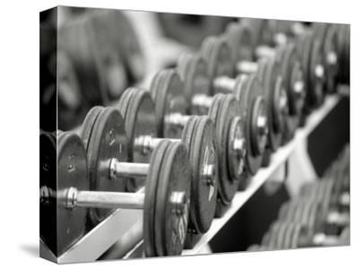 Free Weights in Rack-Bob Winsett-Stretched Canvas Print