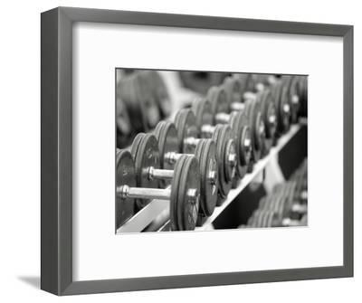 Free Weights in Rack-Bob Winsett-Framed Photographic Print