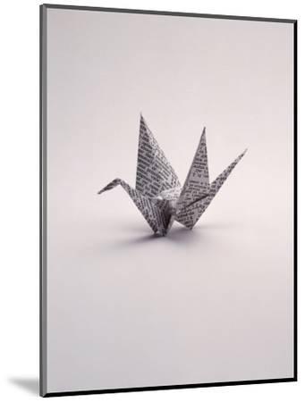 Origami Crane on White-Howard Sokol-Mounted Photographic Print