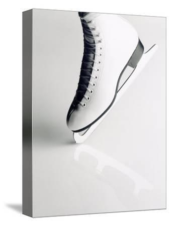 Black and White Image of Figure Skater's Skate-Howard Sokol-Stretched Canvas Print