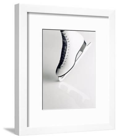 Black and White Image of Figure Skater's Skate-Howard Sokol-Framed Photographic Print