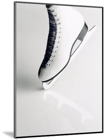 Black and White Image of Figure Skater's Skate-Howard Sokol-Mounted Photographic Print