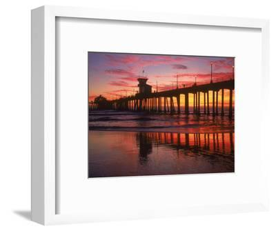 Huntington Beach Pier, CA-Michele Burgess-Framed Photographic Print