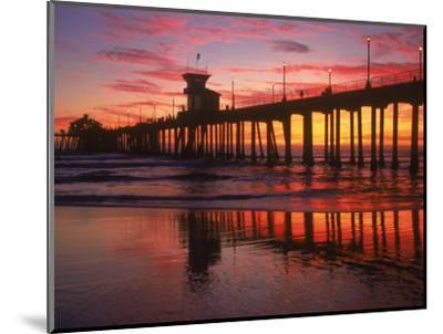 Huntington Beach Pier, CA-Michele Burgess-Mounted Photographic Print