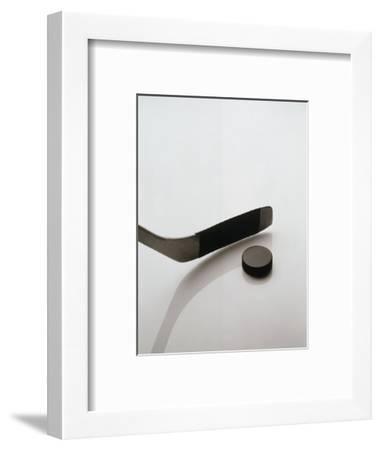 Hockey Stick and Puck-Howard Sokol-Framed Photographic Print