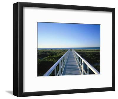 Long Island, Ny, Architectural Detail of Bridge-Lonnie Duka-Framed Photographic Print