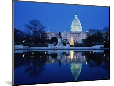US Capitol and Christmas Tree-Walter Bibikow-Mounted Photographic Print
