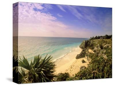 Caribbean Sea, Tulum, Yucatan, Mexico-Walter Bibikow-Stretched Canvas Print