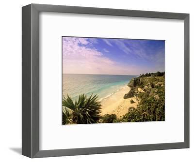 Caribbean Sea, Tulum, Yucatan, Mexico-Walter Bibikow-Framed Photographic Print