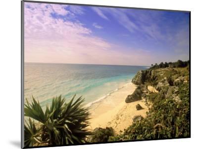 Caribbean Sea, Tulum, Yucatan, Mexico-Walter Bibikow-Mounted Photographic Print