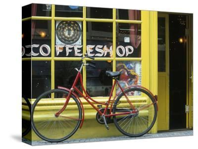 Coffee Shop, Amsterdam, Netherlands-Peter Adams-Stretched Canvas Print