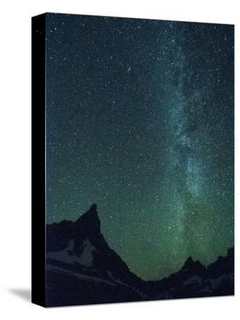 Milky Way over Glacier National Park, Montana.-Steven Gnam-Stretched Canvas Print