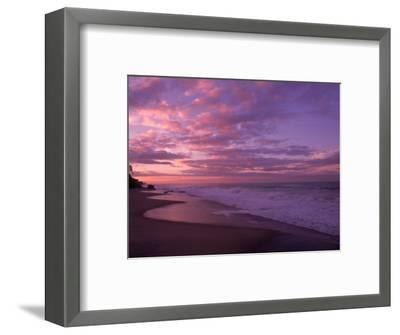 Sunset and the Ocean, CA-Mitch Diamond-Framed Photographic Print