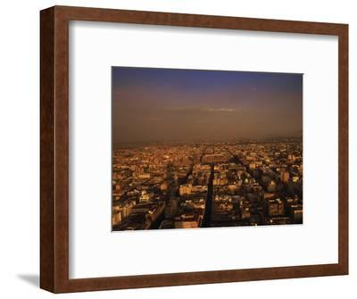 Aerial View of Mexico City, Mexico-Walter Bibikow-Framed Photographic Print