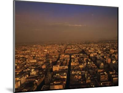 Aerial View of Mexico City, Mexico-Walter Bibikow-Mounted Photographic Print