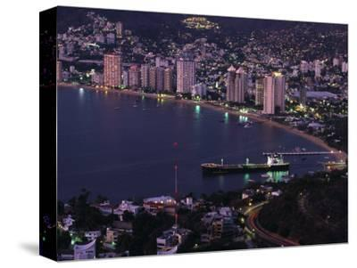 Acapulco Bay and Beach, Acapulco, Mexico-Walter Bibikow-Stretched Canvas Print