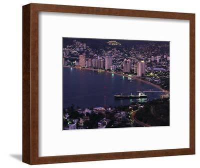 Acapulco Bay and Beach, Acapulco, Mexico-Walter Bibikow-Framed Photographic Print