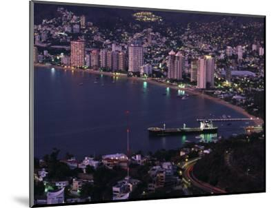 Acapulco Bay and Beach, Acapulco, Mexico-Walter Bibikow-Mounted Photographic Print