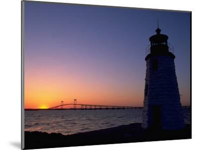 Lighthouse, Goat Island, Newport, RI-James Lemass-Mounted Photographic Print