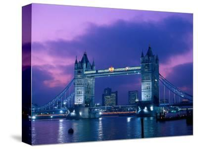 Tower Bridge at Night, London, Eng-Peter Adams-Stretched Canvas Print