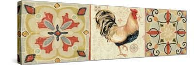 Bohemian Rooster Panel II-Daphne Brissonnet-Stretched Canvas Print