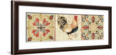 Bohemian Rooster Panel II-Daphne Brissonnet-Framed Premium Giclee Print