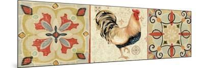 Bohemian Rooster Panel II-Daphne Brissonnet-Mounted Premium Giclee Print