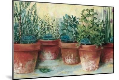 Potted Herbs II-Carol Rowan-Mounted Premium Giclee Print