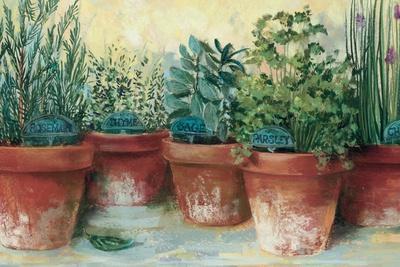 Potted Herbs II-Carol Rowan-Art Print