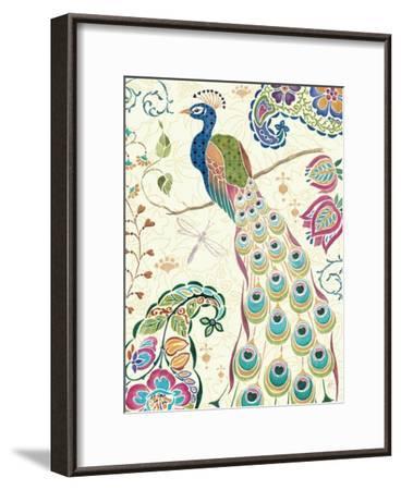 Peacock Fantasy III-Daphne Brissonnet-Framed Art Print
