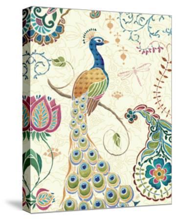 Peacock Fantasy II-Daphne Brissonnet-Stretched Canvas Print