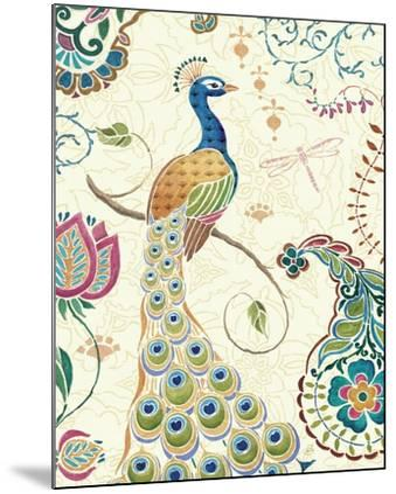 Peacock Fantasy II-Daphne Brissonnet-Mounted Art Print