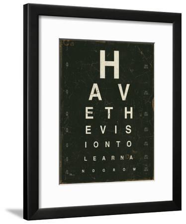 Eye Chart IV-Jess Aiken-Framed Art Print