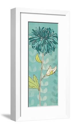 Sarah's Garden I in Blue-Sarah Adams-Framed Premium Giclee Print