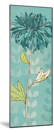 Sarah's Garden I in Blue-Sarah Adams-Mounted Premium Giclee Print