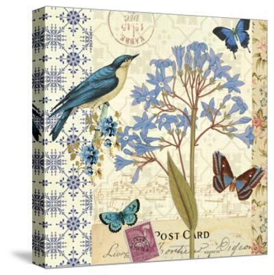 Blue Notes I-Pela Design-Stretched Canvas Print