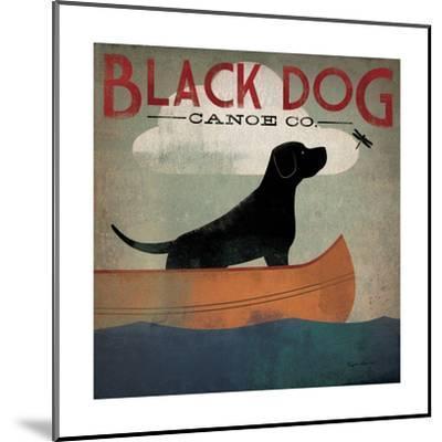 Black Dog Canoe-Ryan Fowler-Mounted Premium Giclee Print