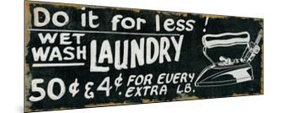 Vintage Sign I-Pela Design-Mounted Premium Giclee Print