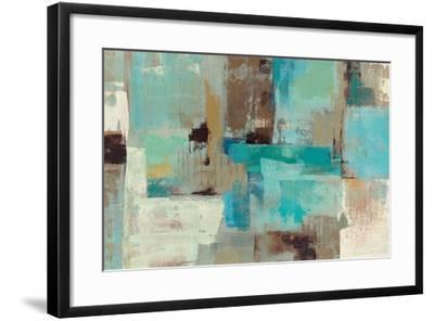 Teal and Aqua Reflections V2-Silvia Vassileva-Framed Premium Giclee Print