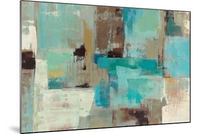 Teal and Aqua Reflections V2-Silvia Vassileva-Mounted Premium Giclee Print