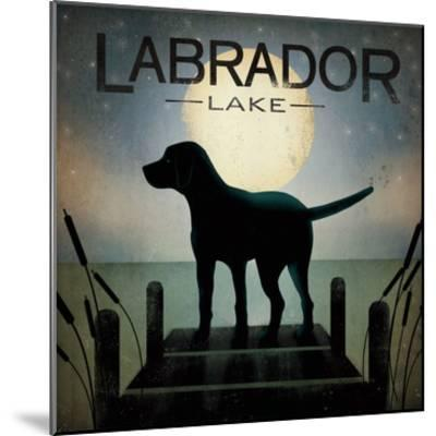 Moonrise Black Dog-Ryan Fowler-Mounted Premium Giclee Print