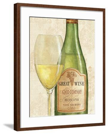 Wine Quotes II-Daphne Brissonnet-Framed Art Print